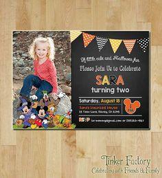 Photo Mickey Mouse Halloween Party / Birthday Party Invitation -Printable- Minnie - Mickey -Halloween / Birthday Party Invite - Digital File