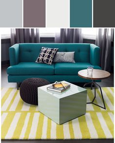 Love the color swatches & the top..not so much the mustard rug!