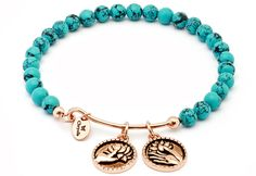 Tranquility turquoise bangle from charm bangle concept brand Chrysalis