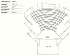 How to Design Theater Seating, Shown Through 21 Detailed Example Layouts,Courtesy of Theatre Solutions Inc.
