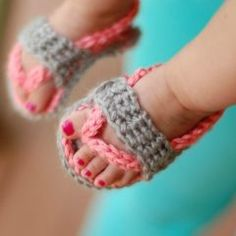 вязание крючком сандалики схема