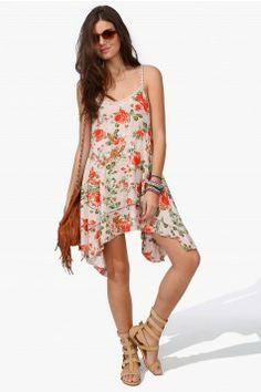 Boho vintage flower dress
