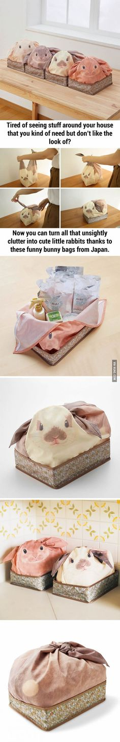 Bunny Bags From Japan That Turn Your Household Stuff Into Rabbits