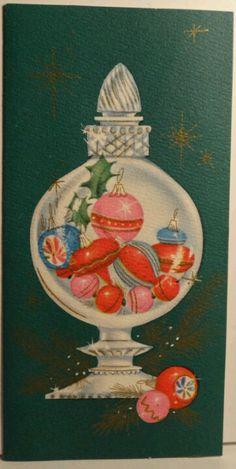 Christmas décor in an apothecary jar!