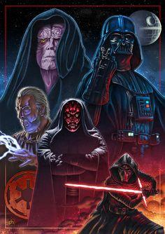 Decades of Evil | Star Wars | #starwars #starwarsart #starwarsfanart #sith #darthvader #darthmaul
