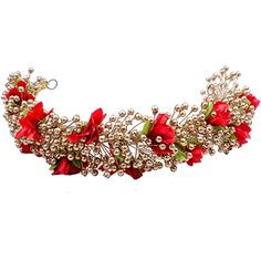 Majik Bollywood Style Hair Accessories Gajra Red  Free Hair Donut ** Click on the image for additional details.(This is an Amazon affiliate link and I receive a commission for the sales)