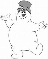 Frosty The Snowman Large Coloring Page
