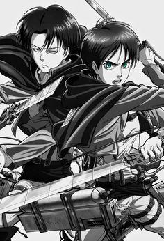 SNK Official Art Edit: Levi and Eren