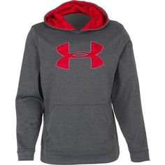 UNDER ARMOUR UA Men NWT Storm Fleece Outline Big Logo Hoodie Sweatshirt  Grey M  Underarmour 560d072c6ded