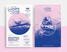 New York Women's Surf Film Festival Branding #behance #design