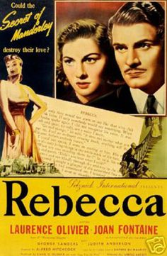Rebecca (1940) -Based on the Gothic romance novel by Daphne Du Maurier, Alfred Hitchcock directed the film.