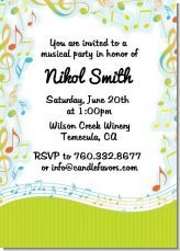 Music birthday party invitation print using cd labels creative another musical note themed birthday party invitation filmwisefo