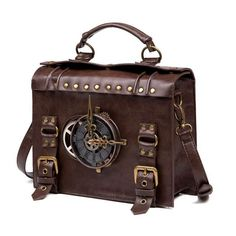 Style Steampunk, Steampunk Gears, Steampunk Gadgets, Steampunk Accessoires, Casual Bags, Shoulder Handbags, Shoulder Bags, Leather Crossbody Bag, Pu Leather