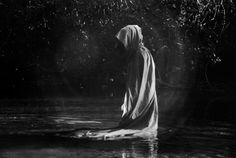 Although the stream was freezing the robed creature did not seem to notice. Was it's blood cold as well? Forest DARK