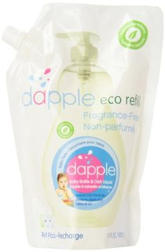 Dabble Refill Pack Baby Bottle and Dish Liquid, Fragrance Free, 34 Fluid Ounce | shopswell