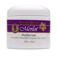 Merlot Moisturizer 4 oz (118 g) by Merlot. $13.59. Natural Grape Seed Skin CareAnti-Wrinkle - Antioxidant - Fragrance-free - Non-oilyMerlot™ Moisturizer is made of natural red grape seed polyphenols. Its sensational antioxidant properties help inhibit the aging process.Contains powerful grape seed antioxidantsAnti-wrinkleFragrance-freeNon-oily, absorbs quicklyNo animal testing.Made in the USA