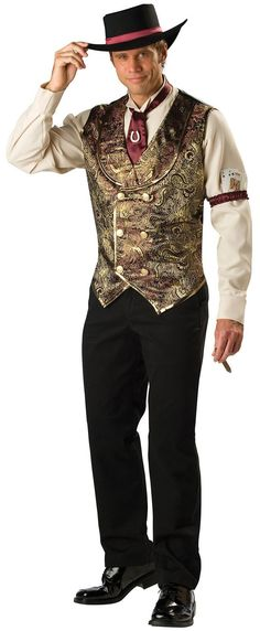 Gamblin Man Adult Western Costume Saloon Costumes - Mr. Costumes