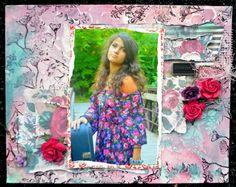 7gypsies new line Gypsy Moments scrapbook layout - #gypsymoments #scrapbooklayout #mixedmedia