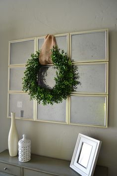 My Best Friend's Blog: Antique Mirror Love this cheap DIY mirror made of dollar store frames.