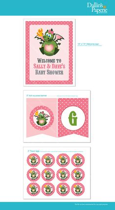 Dragon Baby Shower for a Girl   DIY Printable  by DallinsPaperie, $15.00