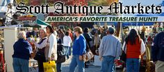 """For over 25 years, SCOTT ANTIQUE MARKETS has been """"America's Favorite Tresure Hunt"""" for incredible antiques and collectibles!  We host the World's Largest Indoor Antique Shows the second weekend of every month at the Atlanta Exposition Center in Atlanta, Georgia and November thru March at the Ohio Expo Center."""