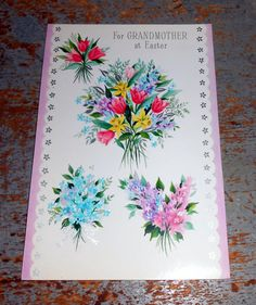 Vintage Greeting Card Easter Hallmark Grandmother by TheBackShak, $3.00
