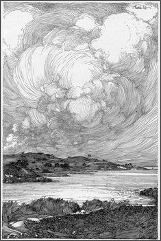Franklin Booth, (July 1874 – August was an American artist known for his detailed pen-and-ink illustrations. He had a unique illustration styl. Art And Illustration, Gravure Illustration, Ink Illustrations, Engraving Illustration, Landscape Illustration, Arte Sketchbook, Ink Pen Drawings, Landscape Drawings, Landscape Sketch
