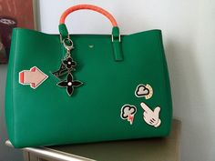 Anya HindmarchTote Personalized w/Anya Stickers & Louis Vuitton Charm