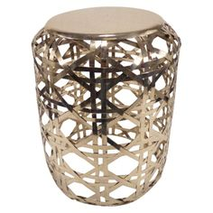 Weave this Threshold metal accent table into your living room decor