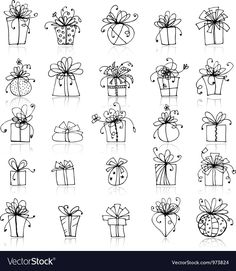 Find 25 Gift Box Icons Your Design stock images in HD and millions of other royalty-free stock photos, illustrations and vectors in the Shutterstock collection. Thousands of new, high-quality pictures added every day. Christmas Doodles, Christmas Drawing, Gift Drawing, Box Icon, Christmas Illustration, Chalkboard Art, Illustration Sketches, Gifts For Teens, Doodle Art