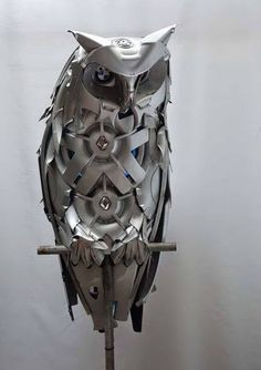WOW! 20 Breathtaking Sculptures Made from Old Car Parts. You won't believe your eyes #spon #autoart