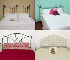 ► ► Mil ideas para la casa y el jardin ♥: Cabecera de camas