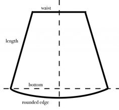 How to draw a skirt pattern using the person's measurements. Easy!