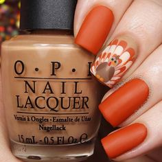 Happy Thanksgiving! I did these fun watermarble turkey nails for a contest over on @brushlove on Sunday. They were inspired by a cookie I saw on pinterest @banicured_ also did some amazing watermarble turkeys so go check those out! Tutorial will be up today!  @opi_products San Tan-Tonio, It's A Piazza Cake, and Be There In A Prosecco, and Matte Top Coat @twinkled_t