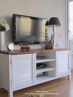 DIY TV stand http://inspirationsathome.blogspot.com