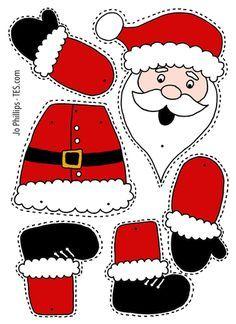 Preschool Christmas Crafts, Christmas Arts And Crafts, Santa Crafts, Christmas Activities, Christmas Colors, Christmas Projects, Kids Christmas, Holiday Crafts, Christmas Worksheets