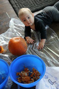How we spent baby's first Halloween.