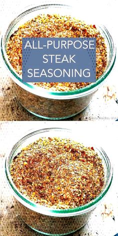 This all-purpose steak seasoning blend is great for steaks, chicken, fish, pork, and even vegetables. Make it now with the spices you already have in your pantry! recipes seasoning videos All Purpose Steak Seasoning Homemade Dry Mixes, Homemade Spice Blends, Homemade Spices, Homemade Seasonings, Spice Mixes, Homemade Gifts For Men, Homemade Italian Seasoning, Grilling Recipes, Cooking Recipes