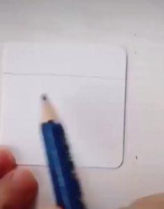 3d Art Drawing, Art Drawings Sketches Simple, Art Drawings For Kids, Pencil Art Drawings, Easy Drawings, Arte Van Gogh, Minimalist Drawing, Crayon Art, Illusion Art