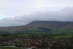 Views over Pendle Hill from Clitheroe Castle