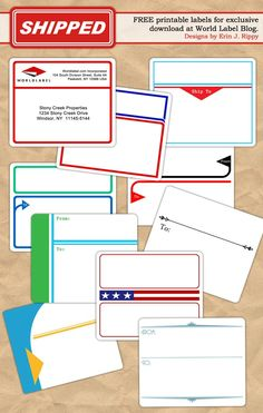 Free To And From Designed Shipping Label Templates | Worldlabel Blog