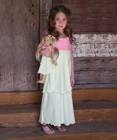 Look at this Lilli Lovebird Pink & Lemon Zest Diva Maxi Dress & Dress for 18'' Doll on #zulily today!