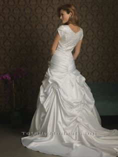 Cherry -  TOTALLY MODEST # 1 choice for Modest Wedding Dresses with sleeves, Bridesmaids and Prom