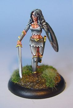 James Wappel Miniature Painting: Girl power! A classic from Dark Sword