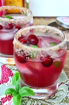 This cranberry basil margarita brings fall flavor to a summer classic.