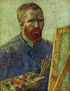 Vincent van Gogh. Self-Portrait, 1888 This is the most vibrant portrait I've seen at the Van Gogh Museum in Amsterdam ! Amazing !! LS
