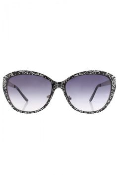 Patterned Metal Frame Sunglasses for Women