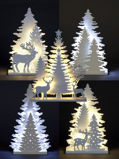 Wooden White Light Up Decorations Christmas LED Ornament Xmas Festive Tree Deer decorations christmas outdoor Christmas White Christmas Decorations & Trees for sale Easy Christmas Crafts, Christmas Wood, Outdoor Christmas, Christmas Projects, Simple Christmas, Christmas Lights, Christmas Tree Outline, Christmas Garden, Magical Christmas