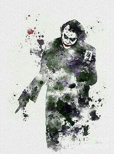 The Joker Batman ART PRINT illustration Supervillain от SubjectArt - Batman Poster - Trending Batman Poster. - The Joker Batman ART PRINT illustration Supervillain от SubjectArt Joker Batman, Joker Heath, Joker Y Harley Quinn, Joker Art, Batman Art, Joker Kunst, Batman Kunst, Joker Images, Joker Pics