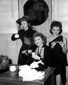 Claudette Colbert, Veronica Lake and Paulette Goddard